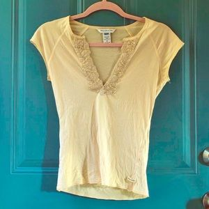 Sheer Embellished Abercrombie Top